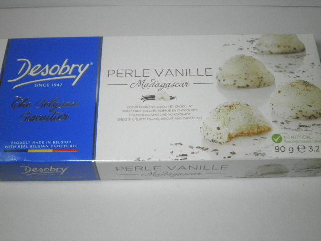 ベルギーのお菓子:「デソブリー ペルレバニラ」を食べる!