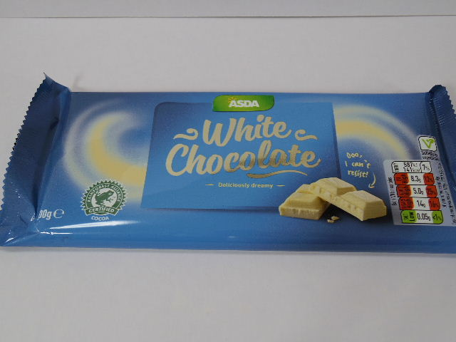 今回のおやつ:「アズダチョコレート ホワイト」を食べる!