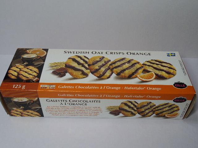 スウェーデンのお菓子:GILLEの「オレンジオートクリスプ」を食べる!