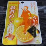 今回のおやつ:味覚糖の「忍者めし みかん」を食べる!