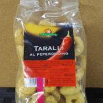 イタリアのお菓子:「GECCHELE タラーリ ペペロンチーノ味」