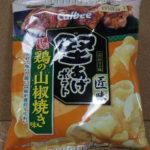 今回のおやつ:「堅あげポテト 匠味 甘辛鶏の山椒焼き味」を食べる!