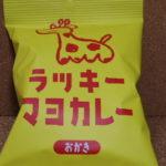 今回のおやつ:三真の「ラッキーマヨカレーおかき」を食べる!