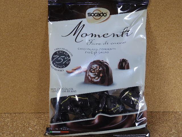Momenti カカオ豆クリーム入り ダークチョコレート 表側
