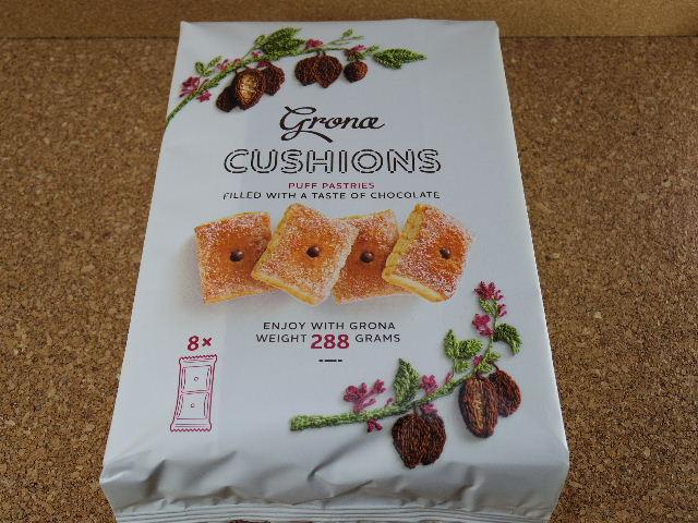 grona cushions チョコレート パッケージ表
