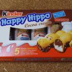 イギリスのお菓子:「キンダー ハッピーヒッポ ココアクリーム」を食べる!!